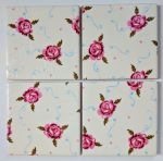 4 Ceramic Coasters in Emma Bridgewater Tiny Roses